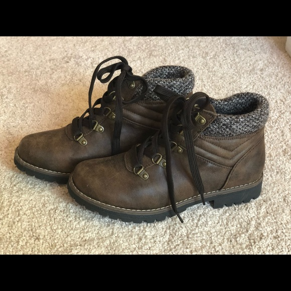 Womens Sonoma Brown Boots Size 75